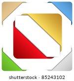 corner ribbons | Shutterstock .eps vector #85243102
