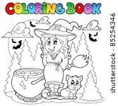 coloring book halloween... | Shutterstock .eps vector #85254346