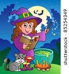 halloween character scene 3  ... | Shutterstock .eps vector #85254349