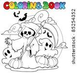 coloring book halloween...   Shutterstock .eps vector #85254352