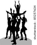 vector drawing cheerleader... | Shutterstock .eps vector #85257634