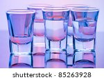drink shot glasses with... | Shutterstock . vector #85263928