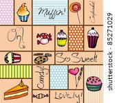 cake background | Shutterstock .eps vector #85271029