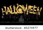 halloween  text. | Shutterstock .eps vector #85274977
