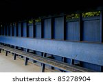 A Empty Dugout At The End Of...