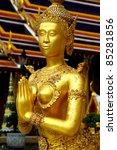 welcome statue female kinnari