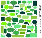 speech bubbles | Shutterstock .eps vector #85283269