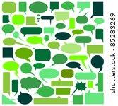 speech bubbles | Shutterstock .eps vector #85283269