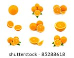 mixed of orange isolated on... | Shutterstock . vector #85288618