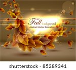 autumn background with lights.... | Shutterstock .eps vector #85289341