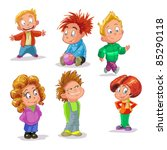 characters funny kids on a... | Shutterstock .eps vector #85290118