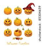halloween icon set | Shutterstock .eps vector #85304659