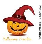 halloween pumpkin in the  red... | Shutterstock .eps vector #85304662