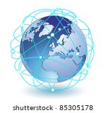 global connection icon eps8 | Shutterstock .eps vector #85305178