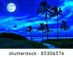 Romantic Tropical Beach At...