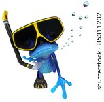 blue frog   Shutterstock . vector #85311232