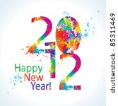 new year's card 2012 with... | Shutterstock .eps vector #85311469