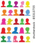 25 anonymous colorful mugshots | Shutterstock . vector #85313755