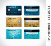 vector credit cards   Shutterstock .eps vector #85315786