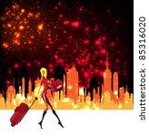 woman shopping background | Shutterstock .eps vector #85316020