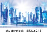 city landscape. raster version. | Shutterstock . vector #85316245