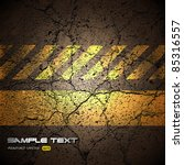 Background With Cracked Road...