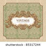 decorative vintage frame. great ... | Shutterstock .eps vector #85317244