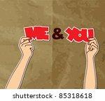 romantic vector illustration.... | Shutterstock .eps vector #85318618