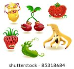 vector collection of six... | Shutterstock .eps vector #85318684