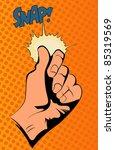 pop art vector illustration... | Shutterstock .eps vector #85319569