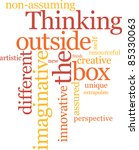 thinking outside the box word... | Shutterstock .eps vector #85330063