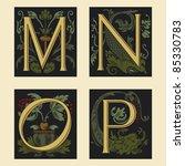 sixteenth century alphabet m n...   Shutterstock .eps vector #85330783