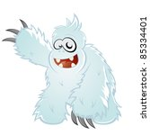 Stock vector funny cartoon yeti 85334401