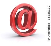 """red """"at"""" symbol. 3d image   Shutterstock . vector #85336132"""