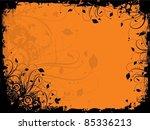 floral grunge in halloween... | Shutterstock .eps vector #85336213