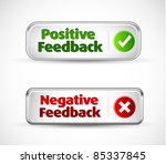positive and negative button... | Shutterstock .eps vector #85337845