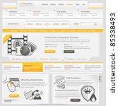 web site design navigation... | Shutterstock .eps vector #85338493