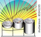 vector illustration of three... | Shutterstock .eps vector #85341235
