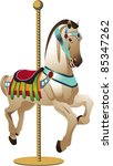 Carousel Horse A Decorative...