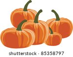 pumpkin   halloween  vector... | Shutterstock .eps vector #85358797