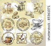 vector coffee elements | Shutterstock .eps vector #85361071