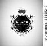 ornate vintage emblem with... | Shutterstock .eps vector #85365247