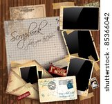 vintage scrapbook composition... | Shutterstock .eps vector #85366042