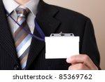 Businessman Showing A Blank...