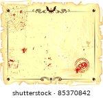 template for halloween's letter | Shutterstock .eps vector #85370842