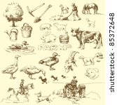 farm hand drawn set | Shutterstock .eps vector #85372648