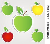 apple set. vector | Shutterstock .eps vector #85376152