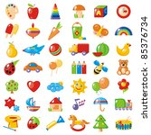 set of 42 bright colorful... | Shutterstock . vector #85376734