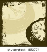 Grunge Time   Vector