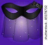black carnival half  mask with... | Shutterstock .eps vector #85378732